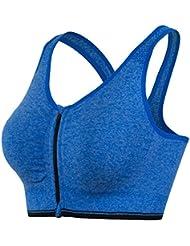 La Sra sin Bordes de los deportes sujetador sujetador intensidad pista de footing ropa de yoga de la aptitud del sujetador 5009 , blue , m