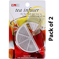 KM Pack of 2 Green Tea Infuser Strainer, Color White