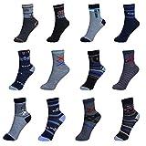 12/24/36 Paar Kinder Jungen Mädchen Socken Kindersocken Sneaker Gr. 27-39 Wintersocken 4-12 Jahre super angenehme Qualität (Jungen 24 Paar, 27-30 (4-6Jahre))