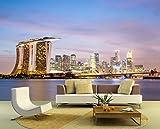 """Bilderdepot24 selbstklebende Fototapete """"Singapur Skyline II"""" 130x100 cm - direkt vom Hersteller"""