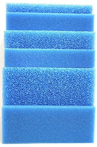 Wohnkult Filtermatte Filterschwamm blau alle Größen von 50 x 50 x 2 cm - 100 x 50 x 10 cm Grob und Fein (100 x 50 x 5 cm GROB 10 PPI)