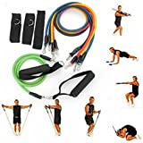 Unisex Professional X11 Resistance Exercise Bands Kit / Latex Sport Fitness Elastic Strength Training Gym Light Weight Portable Muscle Door Anchor Strap Handle Home Rubber Workout Power Full Body Leg Chest Hand Ankle AB Men Women Tube Pilates Powerlifting Stretching In House Back Tubing Waist Shoulder Stretch Cords Lifting Arm Stretchy Toning Loops Set Kit Physical Compact Yoga Circular Strongest Lower Bodybuilding Equip Weight Speed Thick Diet Weight Lose Loss Fat Burning Suit Weighting Healthy Calorie Effective Fast Easy Natural Program System Methods Plan Burning Belly Burner Losing Get Rid Slimming Remove Exercise Wrap Weightloss Management Cutting Bodywrap Reduction Bodyshaper Shapper Shapeware Products Shapewear Slim Quickly Belly Reduce Waist Stomach Men Women Home Body Rapid Flat Dieting Trimmer Wear Shape Wear Fastest Workout Solution Clothing Adjustable Belt Diet Loss Lose Tummy Fat Stuff Supplies Birthday Gift Item Shop Store Buy Gear Friend Mom Dad Brother Sister The Best High Quality Unique Special