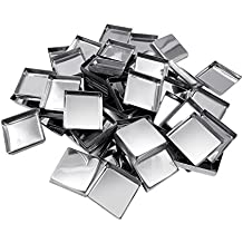 Allwon 56 Pack - Sartenes metálicas cuadradas vacías para la paleta de sombras de ojos Paleta