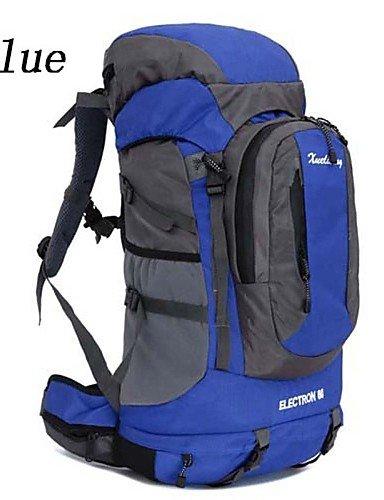 HWB/ 60L L Rucksack Camping & Wandern / Reisen Outdoor Wasserdicht / Wasserdichter Verschluß / Atmungsaktiv Grün / Rot / Blau / OrangeNylon / Orange