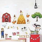 Lytshop Leben teilen Bauernhof-und Vieh-Wand-Aufkleber-Bunte Wand-Aufkleber-Wand-Dekoration