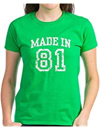 CafePress - Made In 81 - Womens Cotton T-Shirt
