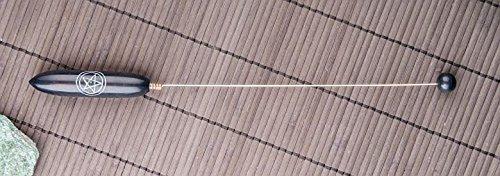 Tensor aus schwarzem Speckstein m. Pentagramm