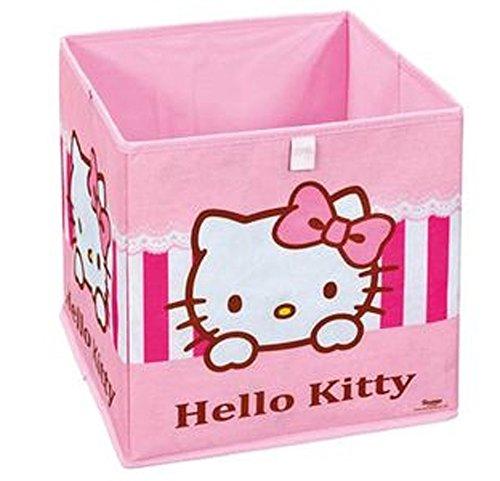 Panier de rangement pliable Hello Kitty Sweat pink, 32 x 32 x 32 cm -PEGANE-