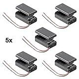 5 Stück Batteriehalter für 9 V-Block Akkuhalter Batteriefach mit Schalter EIN Aus