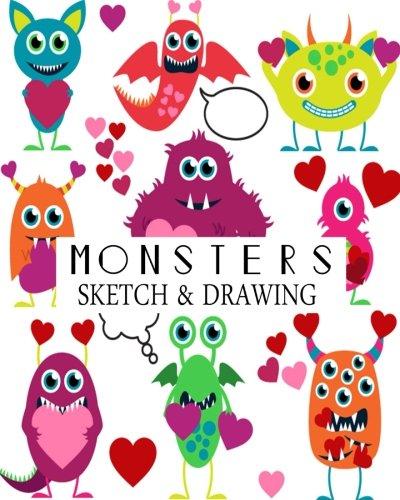Monsters Sketch & Drawing: Blank Sketchbook Drawing Book for kids Large 8