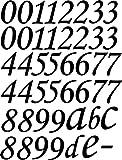 XL SET 46 Stück Selbstklebende Ziffern, Zahlen, Buchstaben schwarz, je 10 cm hoch, Wandtattoo, Aufkleber für den Aussenbereich, Textaufkleber - wählen Sie aus 32 Farben