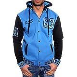 Rusty Neal R-Neal Hoodie Oldschool Kapuzen College Jacke Sweatjacke 6876-1, Farbe:Blautöne;Größen:S
