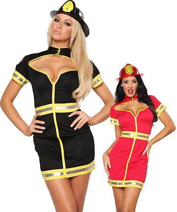(Leg Avenue - Flirty Feuerwehr Kostüm - ML - Rosa - 83522)