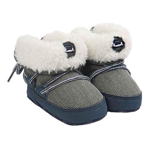 Hunpta Lauflernschuhe Kinderschuhe Baby Schneestiefel weiche Sohle weiche Krippe Schuhe Kleinkind Stiefel Blau