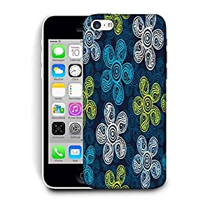 Snoogg Multicolor Flowers Printed Protective Phone Back Case Cover For Apple Iphone 5C