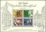 Prophila Sellos para coleccionistas: Berlín (Oeste) Bloque 4 (Completa.edición) matasellado de Primer día matasellado 1973 50 años radiodifusión
