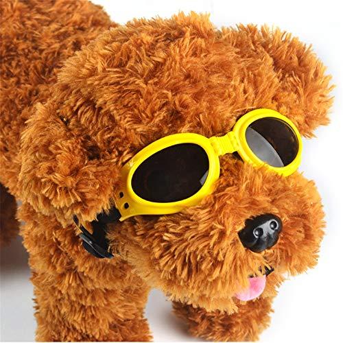 Winddichte Schutzbrille für Haustiere 3 STÜCKE Hundesonnenbrille, Hundebrille für mittelgroße und große Hunde Augenschutz mit UV-Schutz, Wasserdicht, Winddicht, Bruchsicher, Kratzfest, Einstellbar, Le