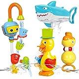 NUÜR Fun Badespielzeug für Kleinkinder mit verspielten Tieren, die Wasser Spritzen, interaktiv, hell und farbenfroh, sicheres stimulierendes Lernspiel