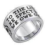 Aidsaer Ringe Silber Boho Ringe Gold Herren Schädel Gravurtext Ringgröße 54 (17.2) Hochzeit Band,Mein Herz Schlägt Deinen Takt, Ring Für Mann