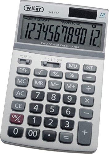 Wiler W8112 Calcolatrice da Tavolo 12 cifre con Display Inclinabile
