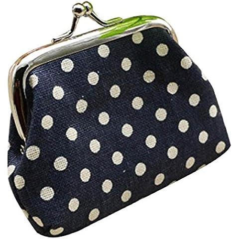Fortan Donne piccole raccoglitore del supporto di carta moneta della frizione della borsa della borsa