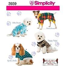 Simplicity 3939 A - Patrones de costura para jerséis para perros