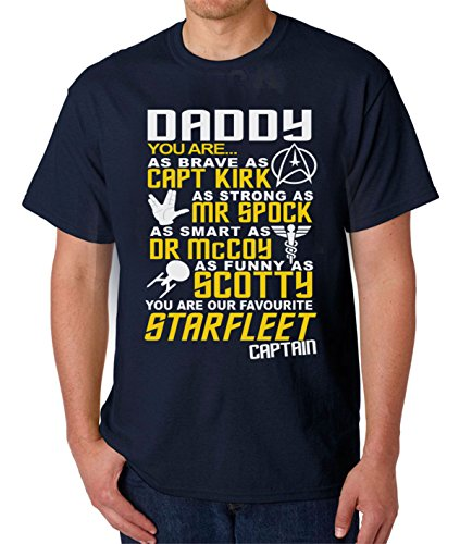 Mens Star Trek T-Shirt - You Are Our STARFLEET Captain - Fathers Day Navy Tee Shirt