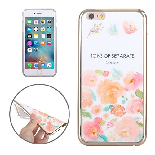 Pour IPhone 6 / 6s galvanoplastie de fleurs JUST Pattern TPU Housse de protection JING ( SKU : S-IP6G-0858D ) S-IP6G-0858C