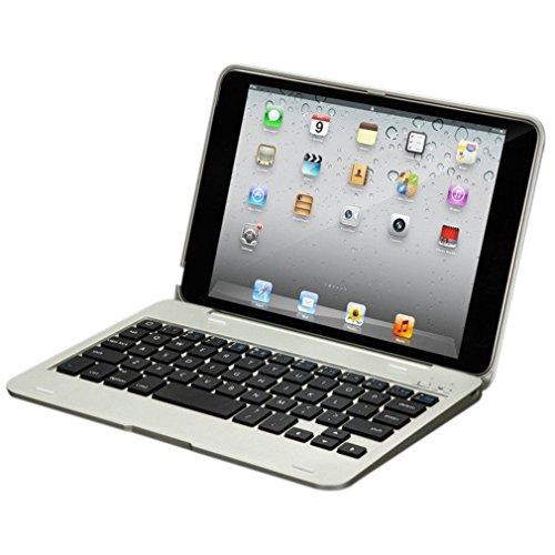 Tastatur mit Schutzhülle für iPad Mini 4 leshp Slim Leichte Kabellose Bluetooth-Tastatur mit Kunststoff Hartschale mit Aluminium-Finish Ständer Flip Case Cover Folio Case für Apple iPad Mini4 Kunststoff - 4 Mit Fall Tastatur Ipad