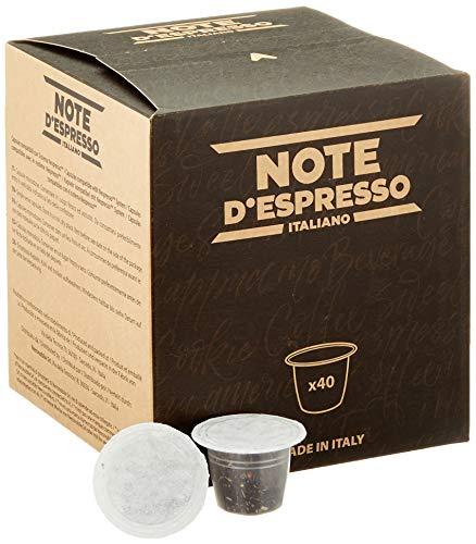 Note D'Espresso Black Lemon Tea, Teekapseln kompatibel mit Nespresso 2g x 40 Kapseln
