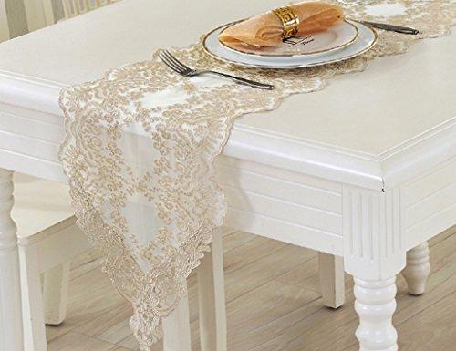 QiangZi Chemin De Table Dentelle Motif Floral Salon Cuisine Bureau De Mariage Partie Maison \\