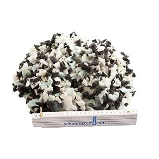 Schaumstoffflocken Flocken Füllmaterial aus Schaumstoff für Kissen und Polster , Kg:1 KG