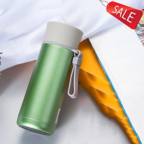 termo taza taza botella de agua botella taza aislante acero inoxidable vacío taza del coche portátil tazas de café cafetera botella de vacío botella aislada taza de té oficina negocio ( Color : E )