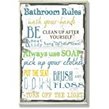 """The Stupell Home Decor Collection """"Bathroom Rules"""" Typography Bathroom - Wall Plaque"""