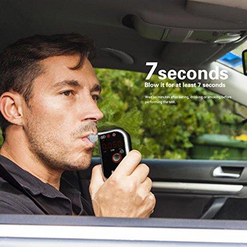 VICTSING Éthylotest numérique Alcootest Électronique Portable avec écran LCD avec Capteur et LCD Écran 4 Embouts Remplacé 750mAh batterie rechargeable pour Chauffeurs