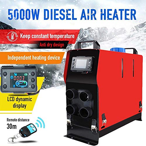 iBellete Luft-Dieselheizung 12V 5KW Fahrzeug-Heizwagen LKW, Wohnmobil, PKW-Anhänger, Boote -