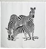 Duschvorhang mit Afrika Motiv - Weiß