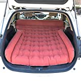 ZAQI Colchon Hinchable Cama para Coche Queen Size Double Air Bed Car, Viajes al Aire Libre Camping Red Heavy Duty Inflatable Matters Auto Back Seat, Carga 300 kg