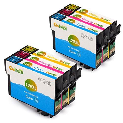 Gohepi T128XL (2 Ciano,2 Magenta,2 Giallo) Sostituzione per Cartucce Epson T128 T1282 T1283 T1284 Compatibile con Epson Stylus SX420W S22 SX230 SX430W SX435W SX440W,Epson Stylus Office BX305F BX305FW