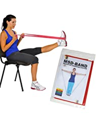 Msd Elastic Band Medium Resistance 1.5 M Red Latex by MSD-Band