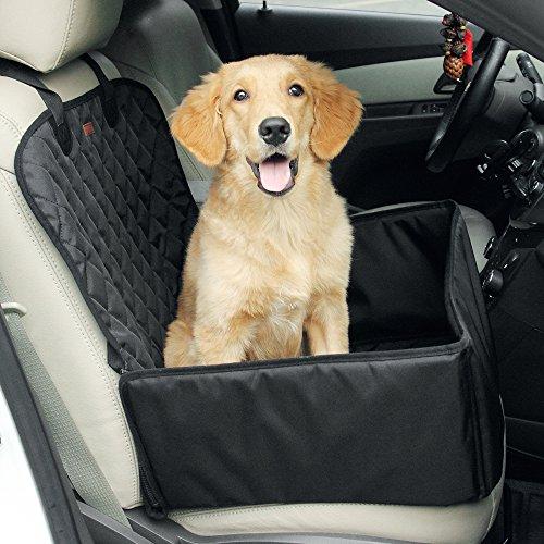 Hund Autositzbezug für Haustier Hund Katze Pet, rutschfeste wasserdichte verstellbare Autoschutzdecke, Hundetransport Vodersitzbezug Autositzabdeckung für SUV Auto usw. (schwarz)