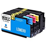 4 LEMERO Kompatibel HP 950 XL 951 XL 950xl 951xl Druckerpatronen für HP Officejet Pro 8100 8600 8600 Plus 8610 8615 8620 8625 8630 8640 8660 251dw 276dw e-All-in-One