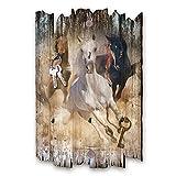 Kreative Feder Pferde Designer Schlüsselbrett, Hakenleiste Landhaus Style, Shabby aus Holz 30x20cm, HSB078