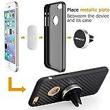 Ubegood Magnet Handyhalterung Auto Halterung Lüftung Universal KFZ Halter für iPhone 6S/6Plus /6/5S ,Samsung Galaxy S6/S5, Galaxy Note 4/3 und jedes andere Smartphone oder GPS-Gerät (Silber) - 5