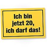 DankeDir! 20 Jahre - Ich darf Das, Kunststoff Schild - Geschenk 20. Geburtstag, Geschenkidee Geburtstagsgeschenk Zwanigsten, Geburtstagsdeko/Partydeko / Party Zubehör/Geburtstagskarte