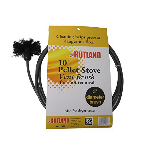 Rutland 3-Inch Pellet Stove/Dryer Vent Brush with 10-Feet Handle by Rutland