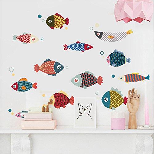 NORISE Baum Cartoons Kunst Kleinfisch Living Schlafzimmer Küche Kinderzimmer Büro Sofa Hintergrund Mauer Papier Sticker Persönlichkeit Bar Ornament Tür Sticker Straßen Wand