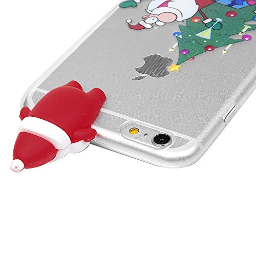 iPhone 6 Plus / iPhone 6S Plus Coque Mavis's Diary Étui Housse TPU Silicone Gel Coque de Protection Phone Case Cover Antichoc 3D Protection écran 5.5'' pour iPhone 6 Plus, 6S Plus Ultra Fine Léger Min Arbre de Noël