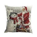 Caso di Cuscino di Natale,Kword Babbo Natale Lenzuola Stampate Federe Tintura Divano Letto Home Decor Cuscino (A)