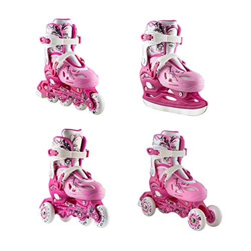 4in1 Inlineskates Rollschuhe Triskates Schlittschuhe Nils NH0320A pink Gr. 31-38 verstellbar (35-38 verstellbar)